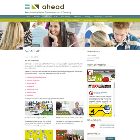 Ahead Website - Get Ahead