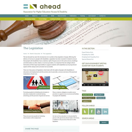 Ahead Website - Legislation