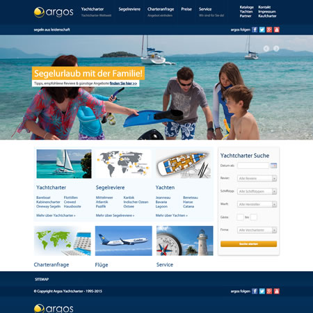 Argos Yachtcharter Website - Home