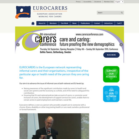 Eurocarers Website - Home